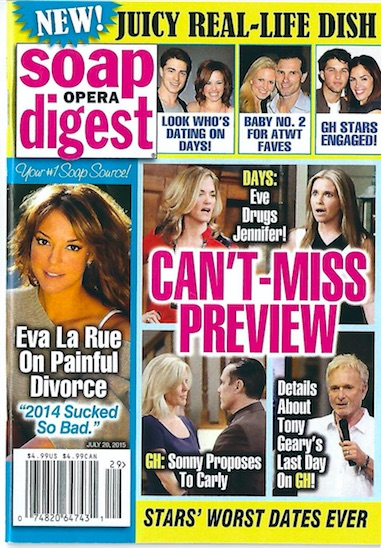 Soap Oper Digest July 20, 2015